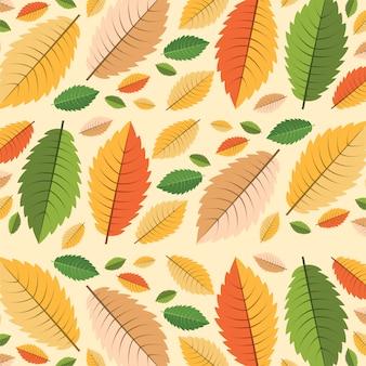Jesień wzór. bezszwowy liścia wzór. pusty tło.