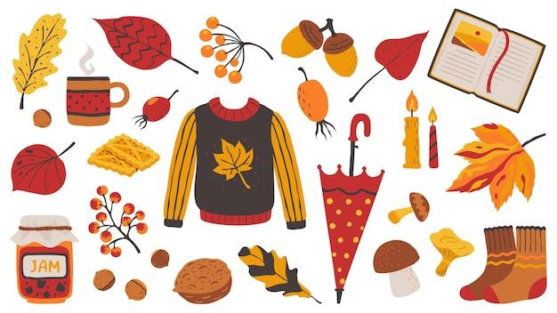 Jesień zestaw ilustracji