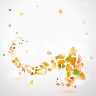 Jesieni abstrakcjonistyczny tło z liśćmi