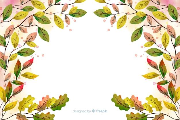 Jesieni dekoracyjny tło akwareli styl
