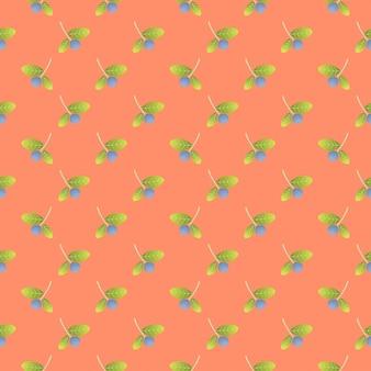 Jesieni jagodowy bezszwowy deseniowy tło
