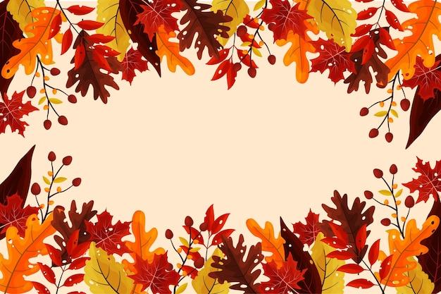 Jesieni tło w płaskim projekcie