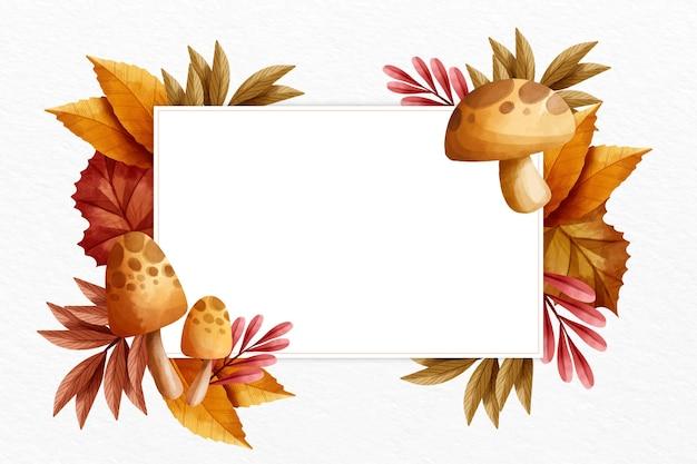 Jesieni tło z biel przestrzenią