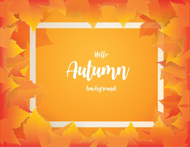 Jesieni tło z czerwonymi, pomarańczowymi, brown i żółtymi spada jesień liśćmi ,.