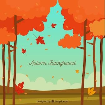 Jesieni tło z krajobrazem