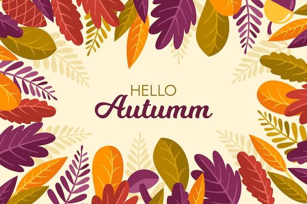 Jesieni tło z liśćmi
