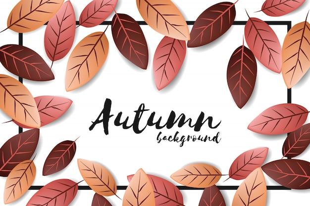 Jesieni tło z spada liściem