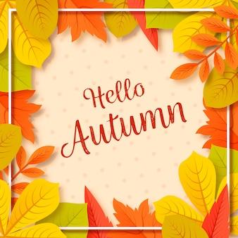Jesieni tło z ulistnieniem