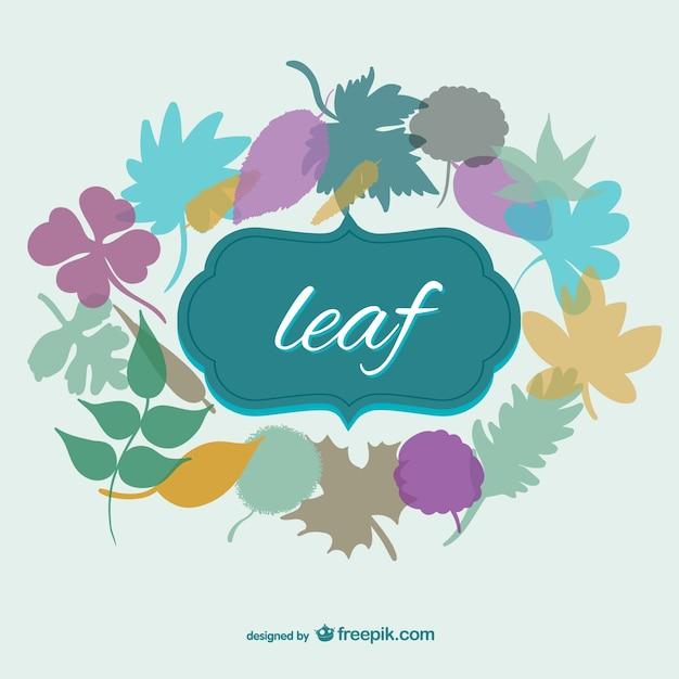Jesienią liści wektor szablon