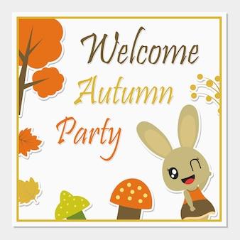 Jesienią pozdrowienie projekt karty