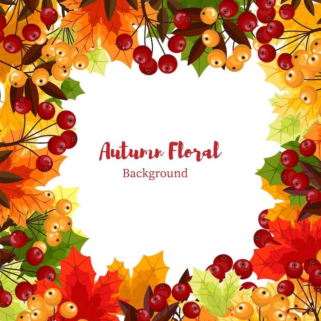 Jesienią tle kwiatów.