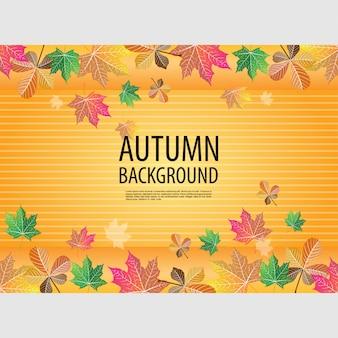Jesienią żółte tło