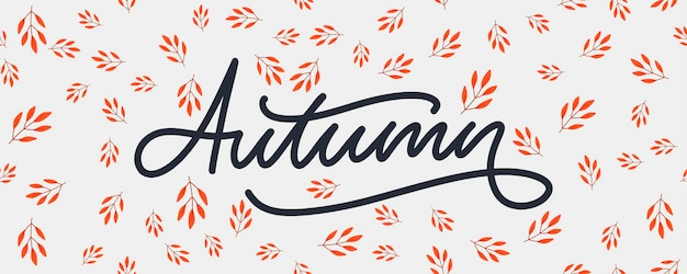 Jesienna ilustracja, baner, wektor, jesień, napis, karta