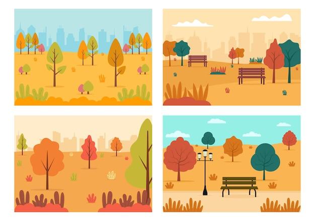 Jesienna ilustracja strony docelowej w tle