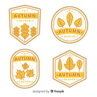 Jesienna kolekcja odznak z liści