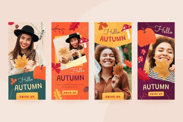 Jesienna kolekcja opowiadań na instagramie ze zdjęciem