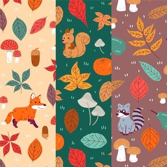 Jesienna kolekcja wzorów kreskówek