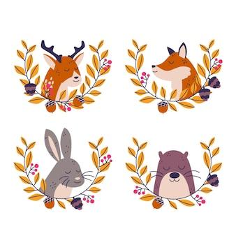 Jesienna kolekcja zwierząt leśnych