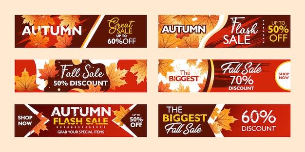 Jesienna oferta specjalna szablon transparent kolekcja