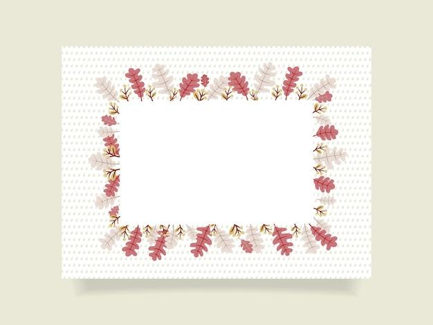 Jesienna ozdobna ramka prostokątna na wolną przestrzeń. ilustracja wektorowa