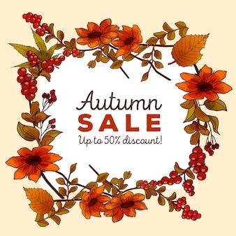 Jesienna sprzedaż szablon