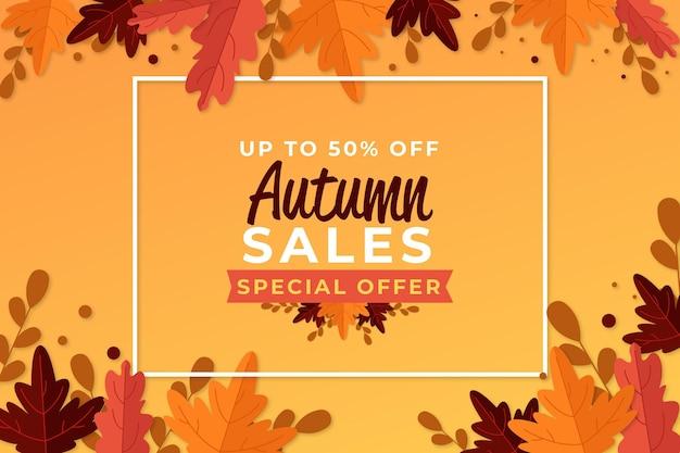 Jesienna sprzedaż transparent