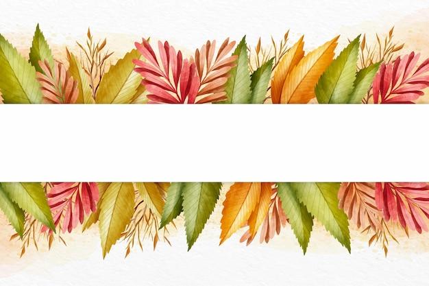 Jesienna tapeta z pustą przestrzenią