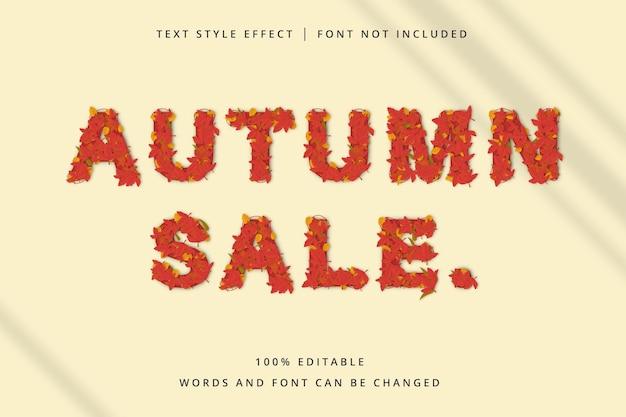 Jesienna wyprzedaż edytowalny efekt tekstowy