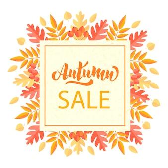 Jesienna wyprzedaż kartki z życzeniami idealne na nadruki ulotki banery zaproszenia promocje i nie tylko