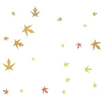 Jesienne konfetti klonowe proste jesienne tło