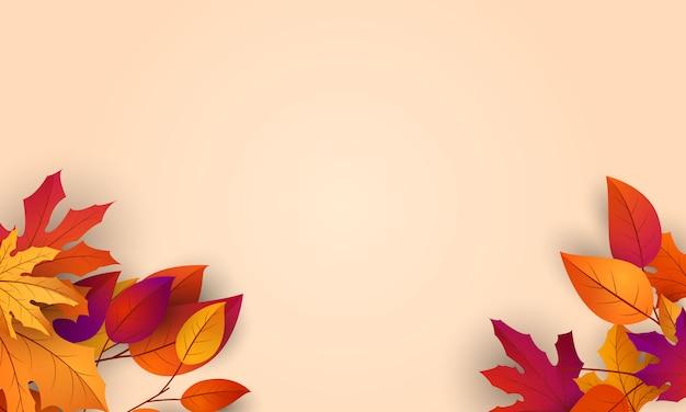 Jesienne liście spadające tło