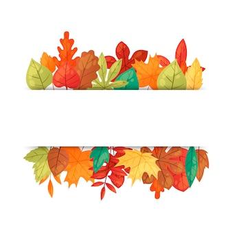 Jesienne liście szablon