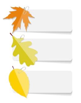 Jesienne liście szablony infografika dla biznesu vector illustra