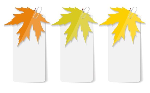 Jesienne liście szablony infografiki dla firmy illustra