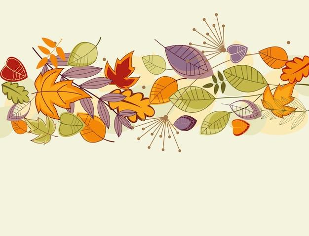 Jesienne liście tło