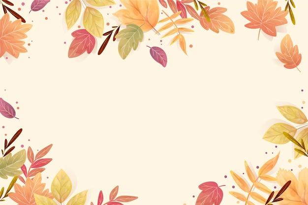 Jesienne liście w tle