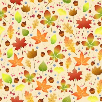 Jesienne liście wzór