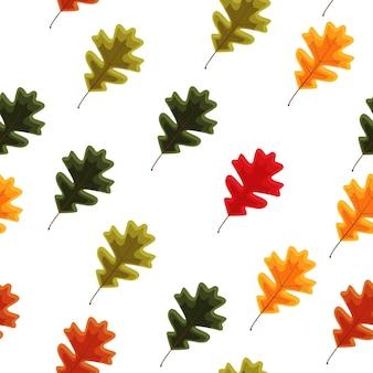 Jesienne spadające liście bezszwowe tło wzór. ilustracja wektorowa