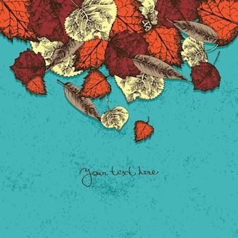 Jesienne tło z liśćmi