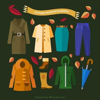 Jesienne ubrania sprzęt
