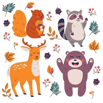 Jesienne zwierzęta leśne