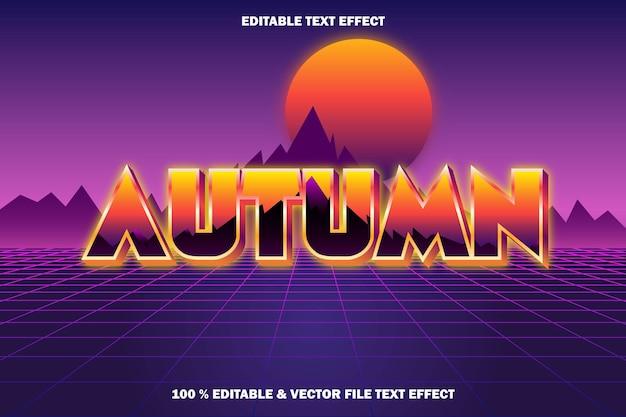 Jesienny edytowalny efekt tekstowy w stylu retro