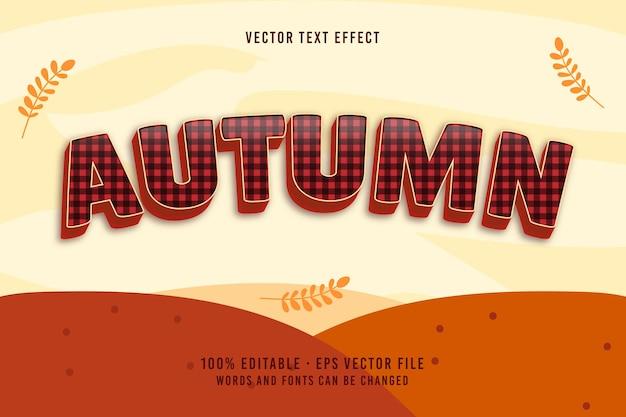 Jesienny efekt czcionki edytowalnej tekstu