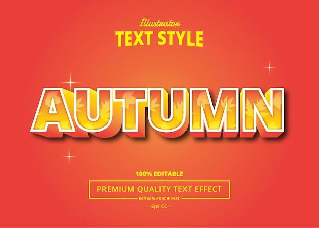 Jesienny efekt tekstowy ilustratora