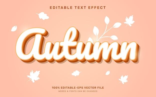 Jesienny efekt tekstowy