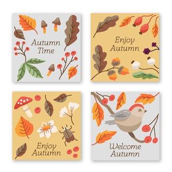 Jesienny motyw kolekcji kart