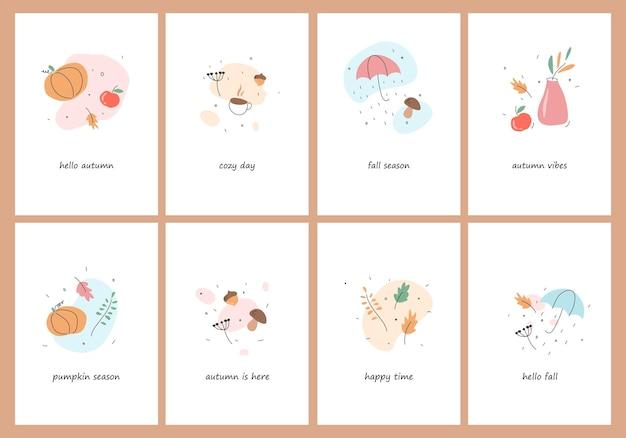 Jesienny nastrój plakat z życzeniami szablon plakatu jesienne zaproszenie na święto dziękczynienia
