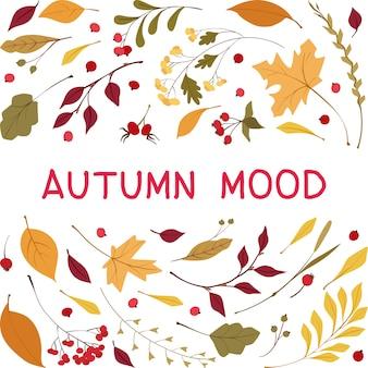Jesienny nastrój płaski wektor szablon transparent mediów społecznościowych.