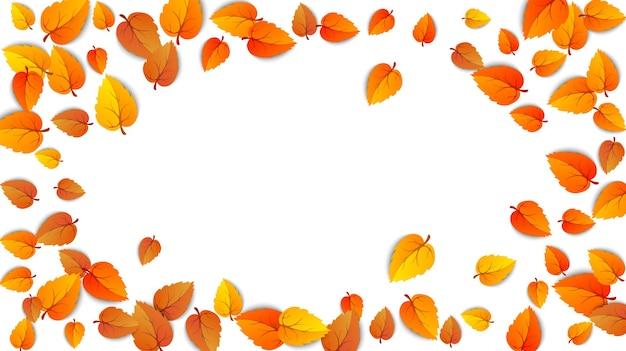 Jesienny owalny baner reklamowy z liśćmi na białym tle na jesienną wyprzedaż