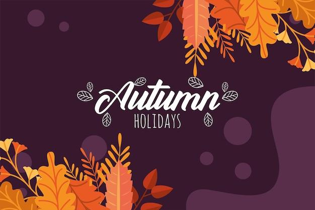 Jesienny plakat sezonowy